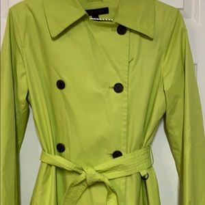 Anne Klein Jackets & Coats - Anne Klein yellow trench coat rain coat size small